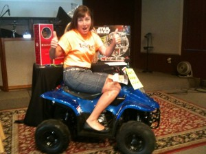 Mrs. Murphy wants to win this ATV