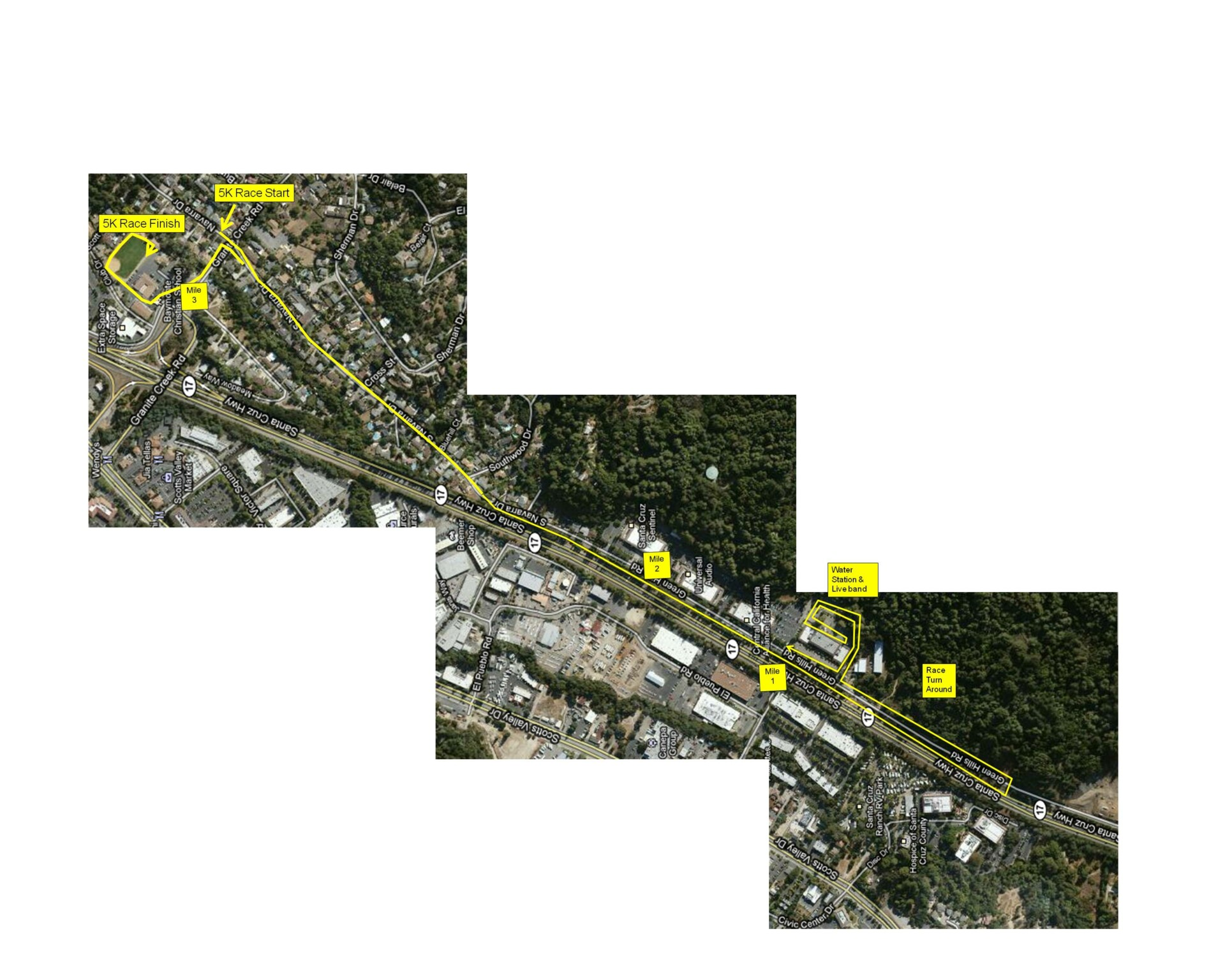 Tech Trek 5K Race Route