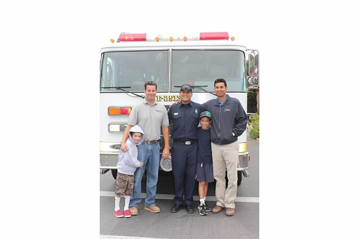 Surprise Fire Truck Ride to School