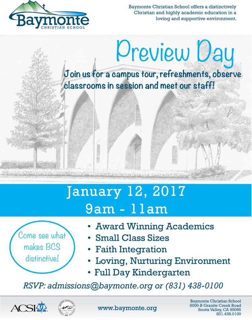 Baymonte Preview Days January 2016