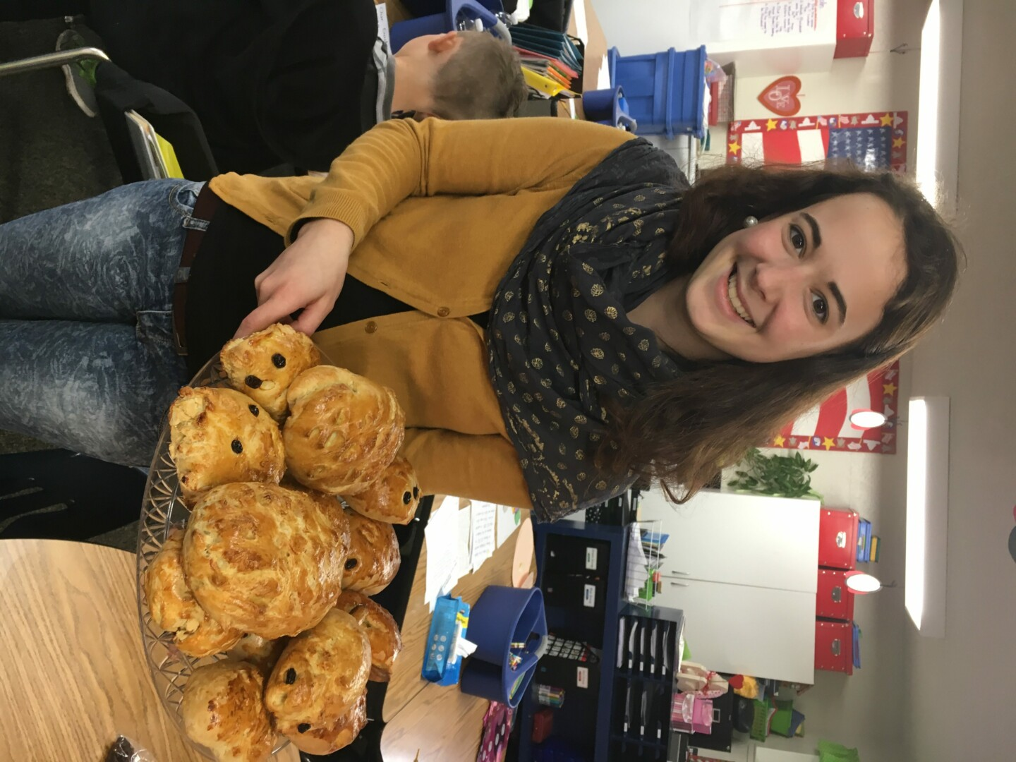 Student Teacher Bakes Bread with First Graders