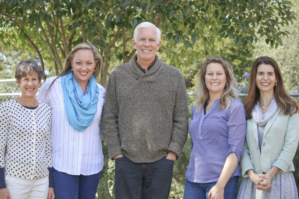 Jerryne King, Gretchen Cortes, Principal Steve Patterson, Stephanie Affolter and Rebecca Finney (from left to right)