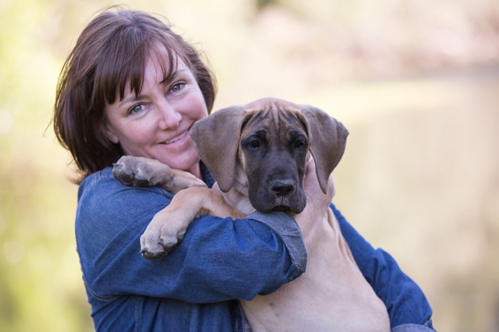 Mrs. Murphy and Shasta as a puppy