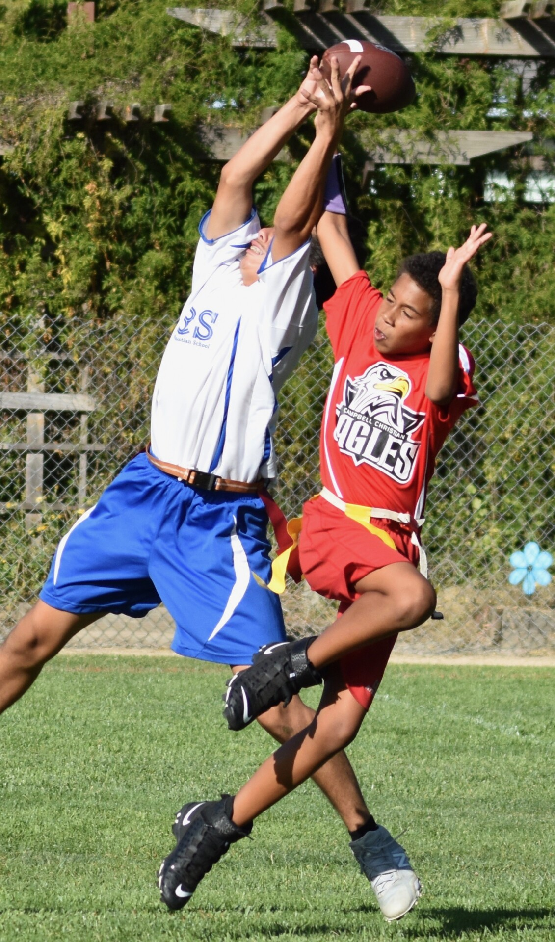 Baymonte Christian School Boys Flag Football Game vs. Campbell Christian