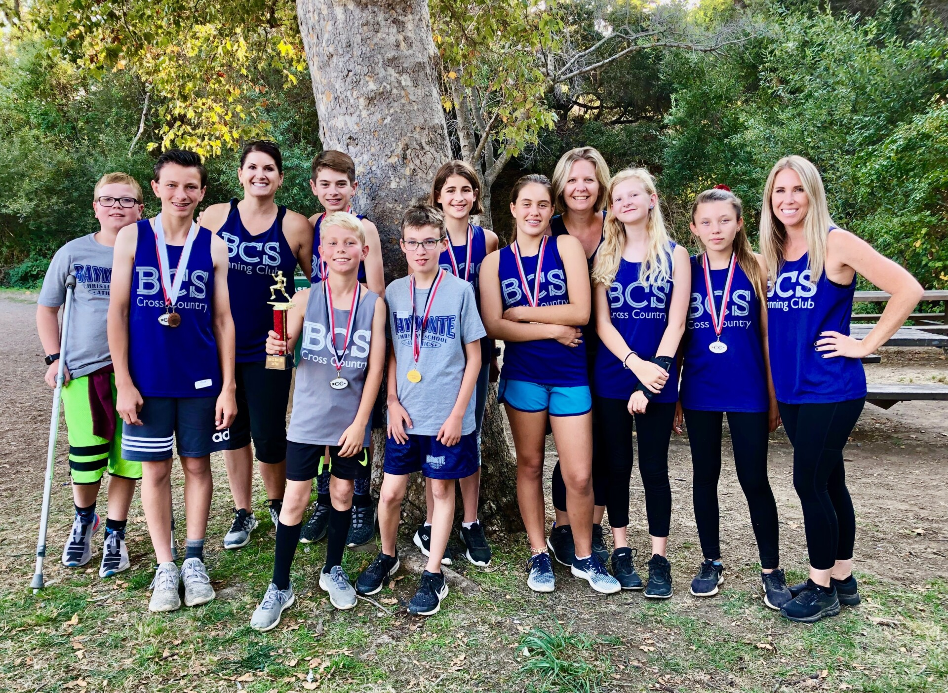 BCS Cross Country Team Comes In Second Place!