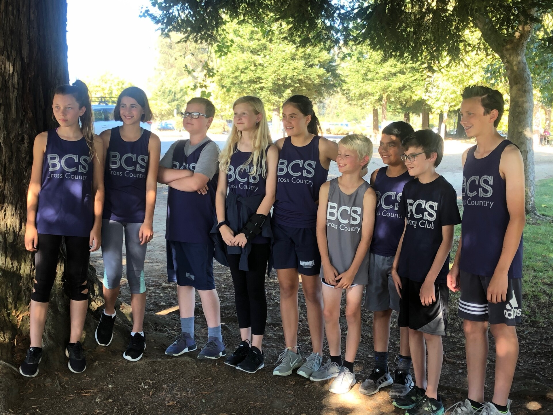 BCS Cross Country Team Stood Out At Yesterday's Meet