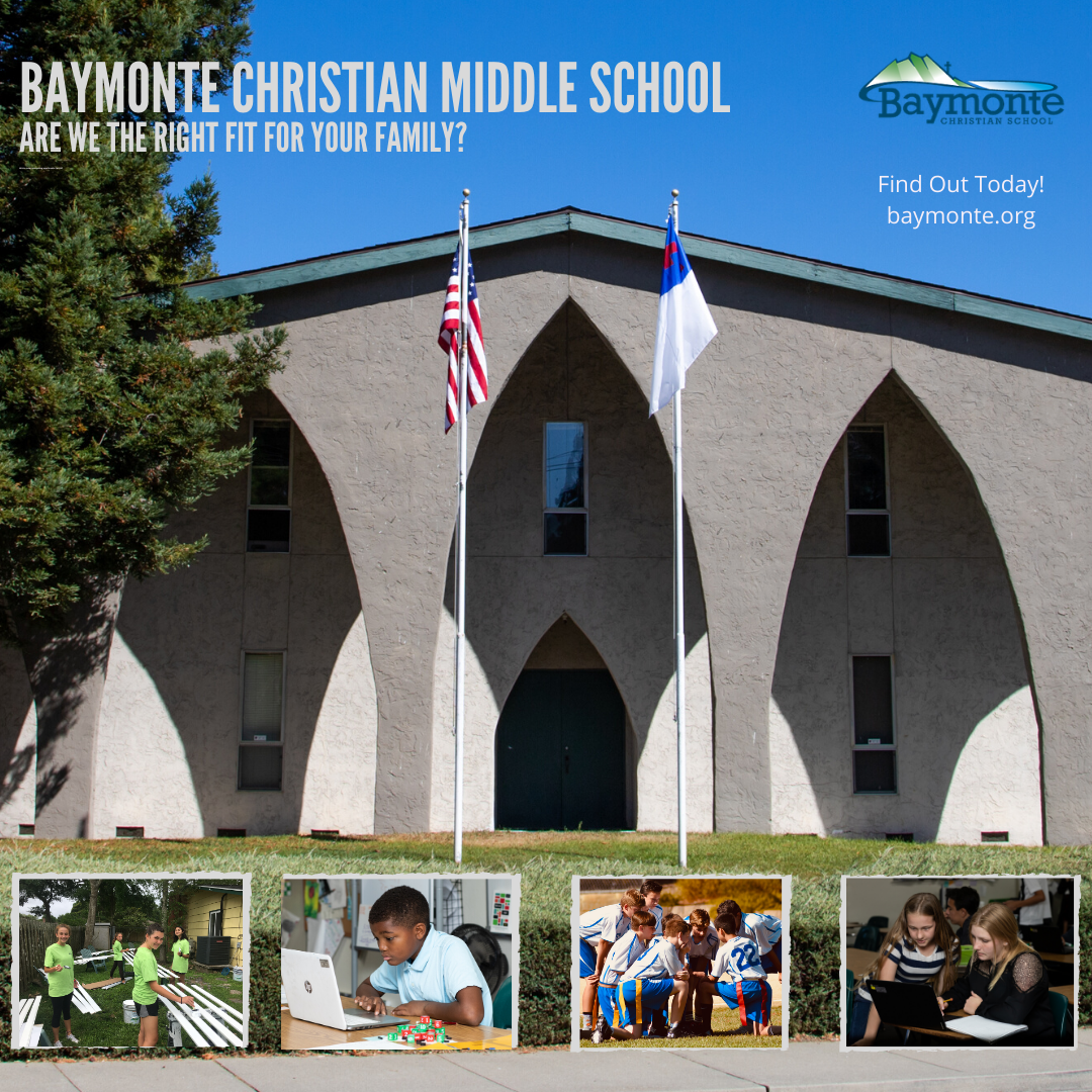 Baymonte Christian Middle School Openings