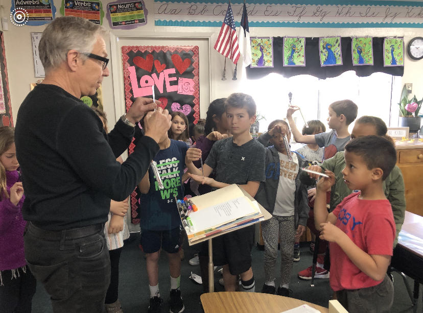 Brian Sussman Visits Third Graders at Baymonte Christian School