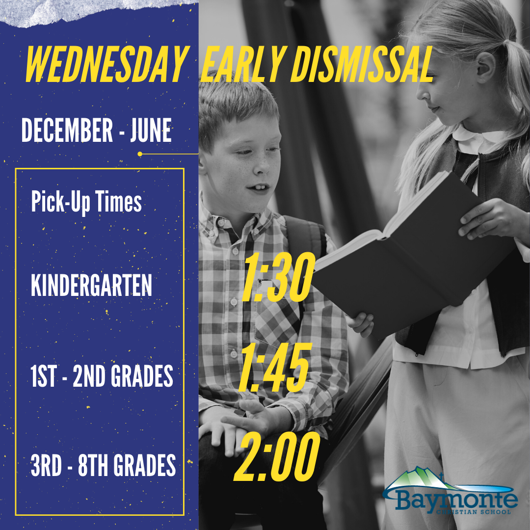 Wednesday Early Dismissal, December – June