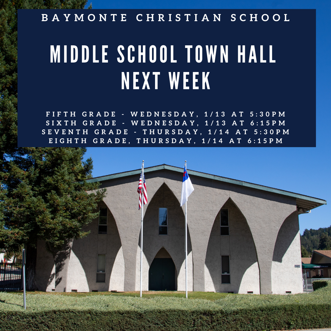 Middle School Town Hall This Week