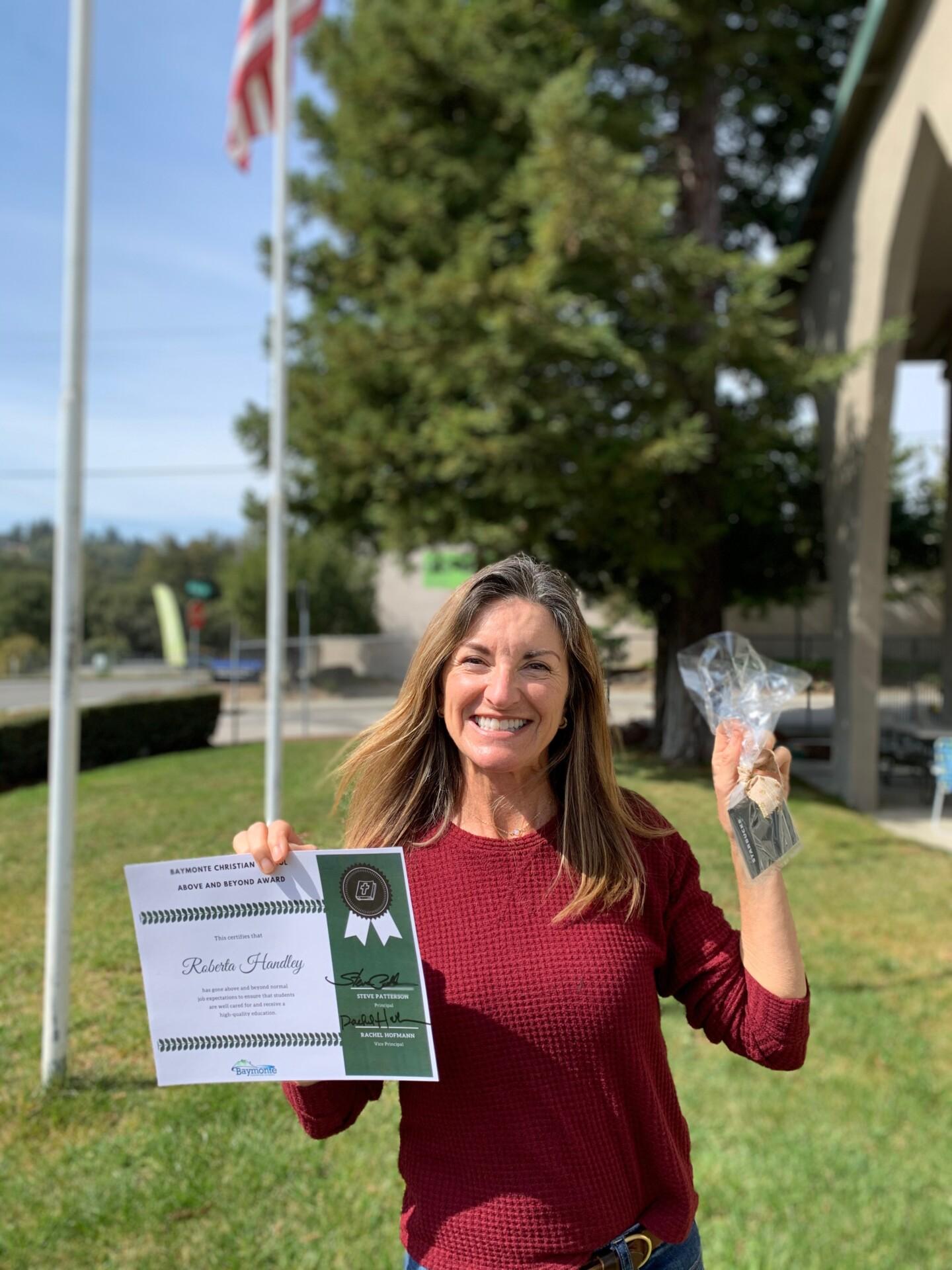 Above and Beyond Award: Roberta Handley