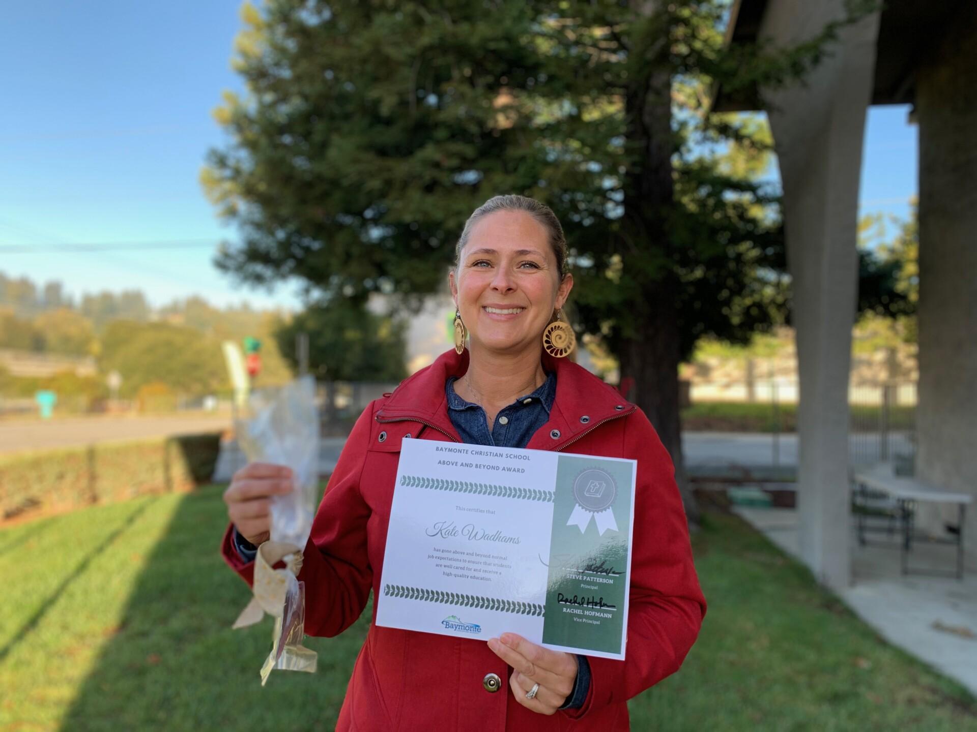Above and Beyond Award: Kate Wadhams
